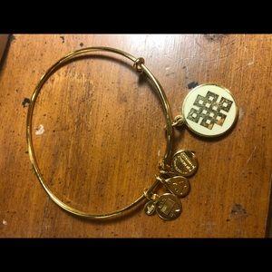 Alex and ani endless knot charm bracelet